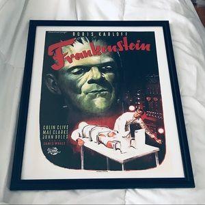 frankenstein Wall Art - Framed print vintage Frankenstein movie poster